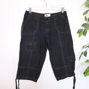 SO Cargo Capri's Sz 7 Cotton Black